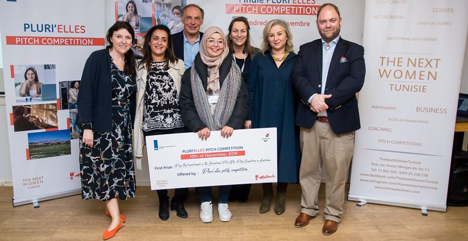"""HIDAYET AYADI, 3ème prix à Amsterdam lors de la """"Next Women Founders Competition"""""""